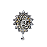Polki Pendant 3.25 Ct Natural Certified Diamond 925 Sterling Silver Anniversary