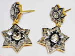 Antique Diamond Earrings 2.22 Ct Natural Certified Diamond 925 Sterling Silver Special Occasion
