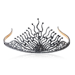 Tiara And Crown 15Ct Natural Certified Diamond 925 Sterling Silver Bridal Hair Accessories