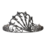 Princess Tiara And Crown 18 Ct Natural Certified Diamond 925 Sterling Silver Head Pieces
