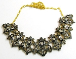 Vintage Style Necklaces 8 Ct Natural Certified Diamond 925 Sterling Silver Workwear
