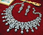 Antique Necklace 35 Ct Natural Certified Diamond 925 Sterling Silver Vacation