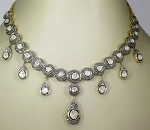 Vintage Necklaces 11.2 Ct Natural Certified Diamond 925 Sterling Silver Office Wear