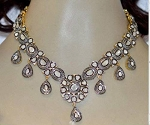 Antique Necklace 18 Ct Natural Certified Diamond 925 Sterling Silver Office Wear
