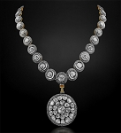 Uncut Diamond Necklace 18.5 Ct Natural Certified Diamond 925 Sterling Silver Special Occasion