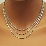 Diamond Solitaire Necklace Design 20.00 Ct Natural Diamond solid Gold String Wedding  Certified