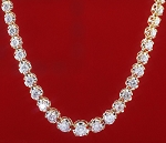 Diamond Tennis Necklace 20.00 Ct Natural Diamond solid Gold Wedding Anniversary Certified