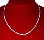 Diamond Solitaire Necklace 11.00 Ct Natural  Diamond Solid White Gold Solitaire String Wedding  Certified