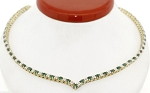 Diamond Strings 4.80 Ct Natural Diamond 9.00 Ct Emerald Solid Yellow Necklace Certified