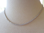 Solitaire Diamond Necklace 7.50 Ct Round Diamond Solid White Gold Wedding String Natural Certified