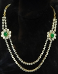 Tennis Necklaces 10.00 Ct Natural Diamond 2.00 Ct Emerald Solid Gold Wedding String Certified