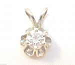Fine Necklace & Pendant 0.55Ct Solitaire Diamond Solid Gold Natural Certified