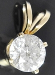 Gold Pendant 1.00 Ct Diamond Solid Gold Solitaire Natural Certified