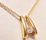 Gold Pendant Necklace 0.20 Ct Diamond solid Gold Natural Certified