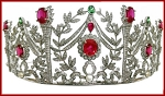 Brithday Tiara 29.44 Carat Natural Rose Cut Certified Diamond Sterling Silver Antique Reprodcution