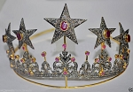Tiaras And Crowns 19.6 Carat Natural Rose Cut Certified Diamond Sterling Silver Head Pieces