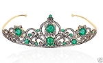 Tiara Online 21 Carat Natural Rose Cut Certified Diamond Sterling Silver Bridal Hair Accessories