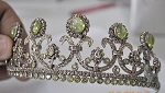 Headpieces 21 Carat Natural Rose Cut Certified Diamond Sterling Silver Bridal Hair Accessories
