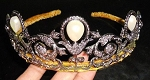 Head Pieces 23 Carat Natural Rose Cut Certified Diamond Sterling Silver Art Deco