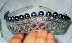 Queen Crown 36 Carat Natural Rose Cut Certified Diamond Sterling Silver Bridal Hair Accessories