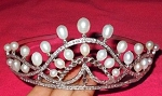 Tiaras And Crowns 31 Carat Natural Rose Cut Certified Diamond Sterling Silver Bridal Hair Accessories