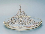 Princess Tiara And Crown 12 Carat Natural Rose Cut Certified Diamond Sterling Silver Queen Crown