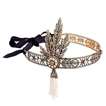 wedding headbands 16.5 Carat Natural Rose Cut Certified Diamond Sterling Silver Antique Victorian