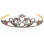 Tiara And Crown 15.15 Carat Natural Rose Cut Certified Diamond Sterling Silver Antique Victorian