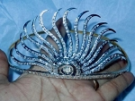 Head Pieces 6.5 Carat Natural Rose Cut Certified Diamond Sterling Silver Victorian Inspried