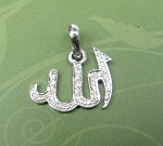 Zodiac Pendants Allah !! 0.42 Ct Diamond Solid Gold Powerful symbolic Natural Certified