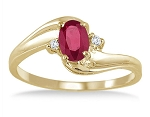Ruby Ring Natural Round Certified Diamond Solid Gold Anniversasry Weekend