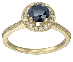 Blue Sapphire Ring 0.65 Ct Natural Certified Diamond Solid Gold Weekend