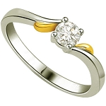 Wedding Diamond Rings 0.30 Ct Round Certified Diamond Solid Gold Soliatire Wedding