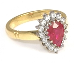 Ruby Engagement Rings 0.52Ct Natural Certified Diamond Solid Gold  Vacation