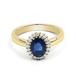 Sapphire Ring Designs 0.60 Ct Real Certified Diamond (1.15 Ct Gemstone) Solid Gold Workwear