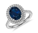 Sapphire Ring Designs 1.52Ct Real Certified Diamond (1.50 Ct Gemstone) Solid White Gold Everyday