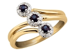 Blue Sapphire Ring For Women 0.51 Ct Real Certified Diamond (0.75 Ct Gemstone) Solid Yellow Gold Office Wear