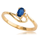 Sapphire Diamond Ring 1.00 Ct Natural Certified Diamond Solid Yellow Gold Special Occasion