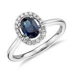 Sapphire Diamond Ring 0.42 Ct Certified Diamond (0.82 Ct Gemstone) Solid Yellow Gold Weekend