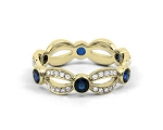 Blue Sapphire Ring 1.20 Ct Certified Diamond (1.20 Ct Gemstone) Solid Yellow Gold Workwear
