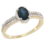 Sapphire Engagement Rings 0.90 Ct Natural Certified Diamond (1.00 Ct Gemstone) Solid Gold Office Wear