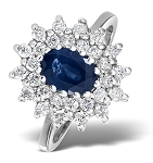 Sapphire Diamond Ring 1.00 Ct Real Certified Diamond (1.18 Ct Gemstone) Gold Party