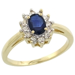 Sapphire Engagement Rings 0.26 Ct Certified Diamond (0.68 Ct Gemstone) Solid Gold Vacation