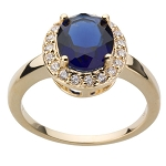 Sapphire Diamond Ring 0.50 Ct Certified Diamond (0.80 Ct Gemstone) Solid Gold Vacation