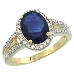Sapphire Rings 1.12 Ct Natural Certified Diamond (1.12 Ct Gemstone) Solid Gold Everyday