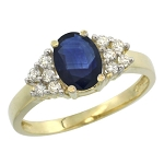 Blue Sapphire Ring For Women 0.30 Ct Certified Diamond (0.75 Ct Gemstone) Solid Gold Weekend