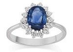 Sapphire Ring Designs 0.28Ct Natural Certified Diamond Solid White Gold Party