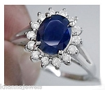 Sapphire Diamond Ring 0.45 Ct Certified Diamond (0.85 Ct Gemstone) Solid White Gold Vacation