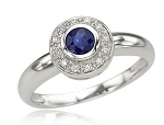 Sapphire Rings 0.25 Ct Natural Certified Diamond Solid White Gold Office Wear