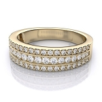 Wedding Bands For Women 2.00 Ct Natural Certified Diamond Solid Yellow Gold Wedding